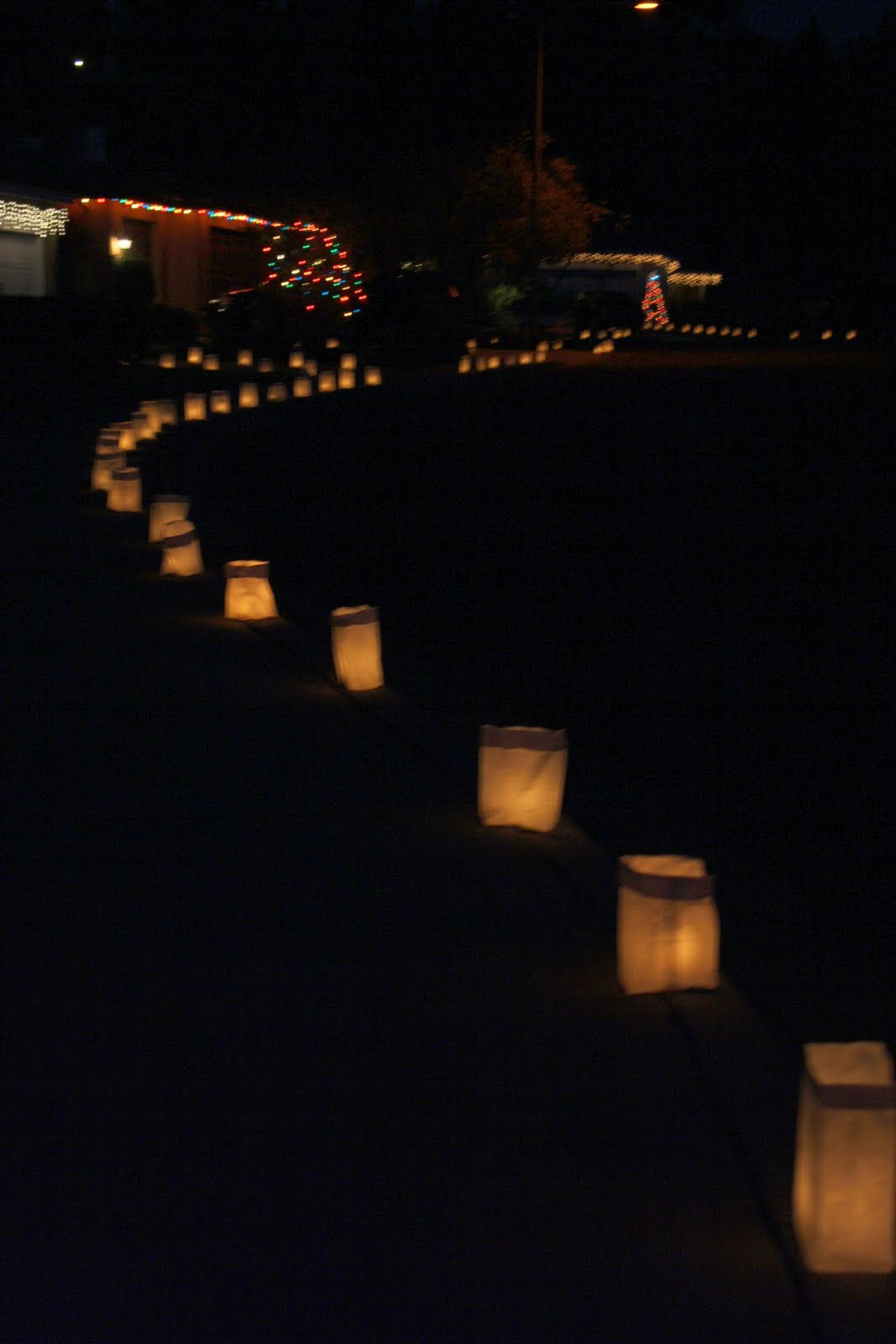 Out Of Plastic Gallon Jugs Or Small White Bags With Candles In Them I Must Say It Was Quite Pretty A Little Village Xmas Lights And Luminaries